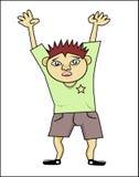 As mãos levantam o menino! Imagens de Stock