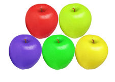 As maçãs colorem isolado Fotografia de Stock