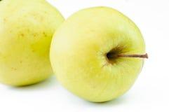 As maçãs verdes maduras fecham-se acima Foto de Stock Royalty Free