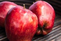 As maçãs vermelhas fecham-se acima Imagens de Stock Royalty Free