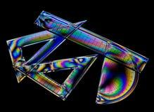 As matemáticas da escola, geometria ajustaram-se no tela de computador para o efeito Fotografia de Stock