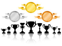 As medalhas ajustaram 2 Fotos de Stock Royalty Free