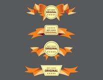 As melhores bandeiras bem escolhidas para o Web site Imagem de Stock