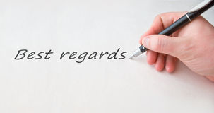 As melhores considerações com cedem o papel em branco Imagens de Stock Royalty Free