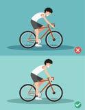 As melhores e posições as mais más para a bicicleta de montada ilustração royalty free