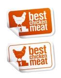 As melhores etiquetas da carne da galinha ilustração do vetor