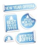 As melhores etiquetas da oferta do ano novo. Imagens de Stock Royalty Free