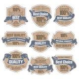 As melhores etiquetas da qualidade Fotografia de Stock Royalty Free