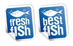 As melhores etiquetas dos peixes ilustração do vetor