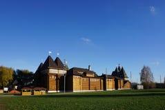 As melhores obra-primas da estrutura de madeira do russo do palácio de T Fotos de Stock