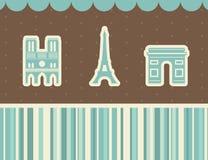As melhores vistas de Paris. Ilustração do vetor. Imagem de Stock