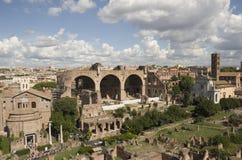 As melhores vistas do fórum do panteão do coliseu de Roma Fotos de Stock Royalty Free