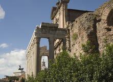 As melhores vistas do fórum do panteão do coliseu de Roma Fotografia de Stock