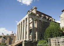 As melhores vistas do fórum do panteão do coliseu de Roma Imagens de Stock