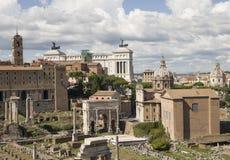 As melhores vistas do fórum do panteão do coliseu de Roma Fotos de Stock