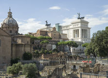 As melhores vistas do fórum do panteão do coliseu de Roma Foto de Stock