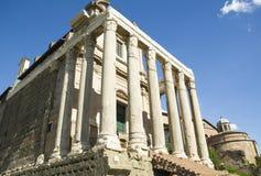 As melhores vistas do fórum do panteão do coliseu de Roma Imagem de Stock