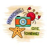 As memórias são para sempre Bandeira da aguarela ilustração stock