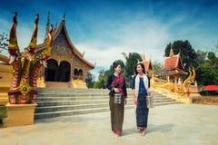 As meninas asiáticas são a peregrinação Foto de Stock