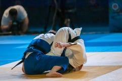 As meninas competem no judô Fotografia de Stock