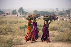 As meninas de Rajasthani Foto de Stock Royalty Free