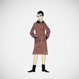 As meninas do esboço do vetor na forma vestem o eps Imagens de Stock Royalty Free