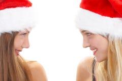As meninas do Natal fotos de stock