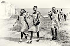 As meninas ganesas de Thee no mesmos vestem-se foto de stock