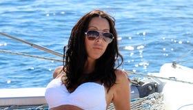 As meninas 'sexy' que navegam em irmãs do biquini serem de mãe à menina da mamã da filha em Los Cabos México Fotografia de Stock Royalty Free