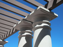 As met Concrete Kolommen Stock Afbeelding