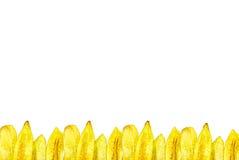 As microplaquetas da banana fizeram molduras para retrato Foto de Stock