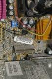 As microplaquetas de circuito de um computador imagem de stock