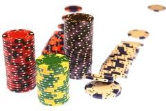 As microplaquetas do póquer isolaram o casino Imagem de Stock Royalty Free