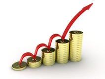 As moedas Fotos de Stock