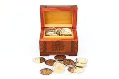 As moedas Imagens de Stock