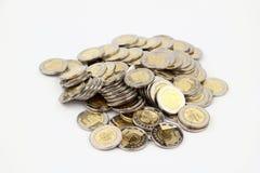 As moedas Foto de Stock Royalty Free