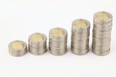 As moedas Fotos de Stock Royalty Free