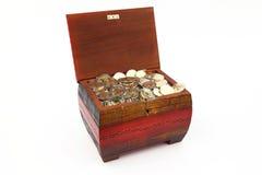 As moedas Foto de Stock