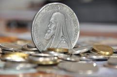 As moedas de prata as mais velhas Imagem de Stock Royalty Free