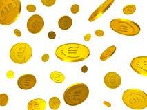 As moedas do Euro indicam Euros And Financing financeiro ilustração stock