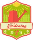 As molas deixaram-nos ir crachá de jardinagem Imagens de Stock Royalty Free