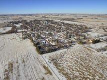 As molas do vale são uma comunidade de exploração agrícola pequena na beira de South Dakota/Minnesota Imagens de Stock