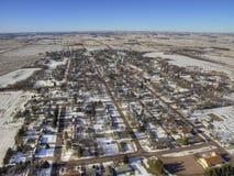 As molas do vale são uma comunidade de exploração agrícola pequena na beira de South Dakota/Minnesota Fotos de Stock Royalty Free