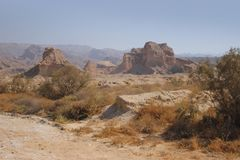 As montanhas ao longo do Golfo Pérsico em Irã Fotografia de Stock Royalty Free