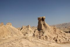 As montanhas ao longo do Golfo Pérsico em Irã Foto de Stock