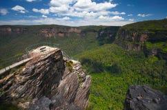 As montanhas azuis em Austrália Fotos de Stock Royalty Free