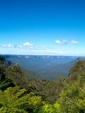 As montanhas azuis em Austrália Foto de Stock
