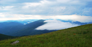 As montanhas Carpathian imagens de stock royalty free