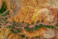 As montanhas coloridas fotos de stock