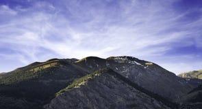 As montanhas de Andorra fotografia de stock